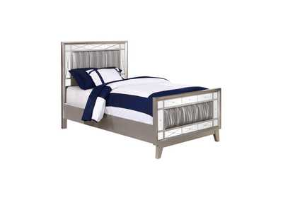 Image for Metallic Mercury Leighton Contemporary Metallic Twin Bed