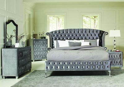Image for Metallic Eastern King Bed w/Dresser & Mirror