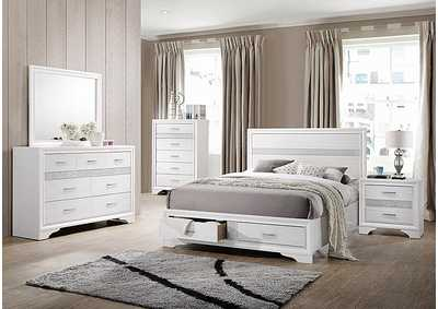 Image for Miranda White Queen Storage Bed W/ Dresser & Mirror