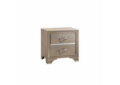 Arrowtown Beaumont Transitional Champagne Nightstand,Coaster Furniture