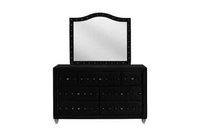 Deanna Metallic Black Dresser and Mirror