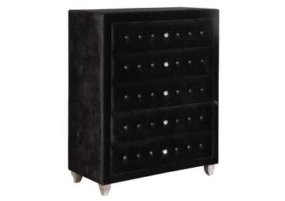 Metallic Deanna Contemporary Black and Metallic Chest