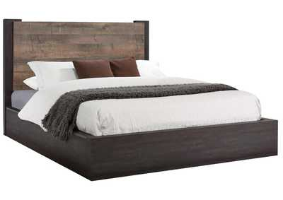 Tundora Weathered Oak and Rustic Coffee California King Bed