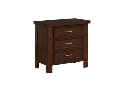 Cedar Barstow Transitional Pinot Noir Nightstand,Coaster Furniture