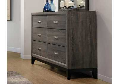 Grey Oak Watson Rustic Grey Oak Dresser,Coaster Furniture