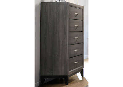 Grey Oak Watson Rustic Grey Oak Chest,Coaster Furniture