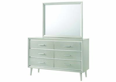 Metallic Sterling Dresser w/Mirror,Coaster Furniture