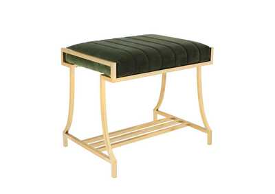 Image for Formosa Upholstered Vanity Stool Dark Moss