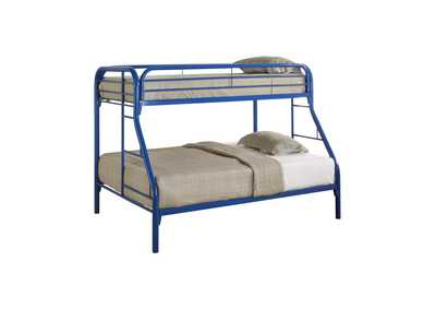 Nomad Morgan Twin-over-Full Blue Bunk Bed