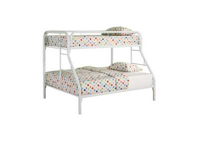 Image for Westar Morgan Twin-over-Full White Bunk Bed