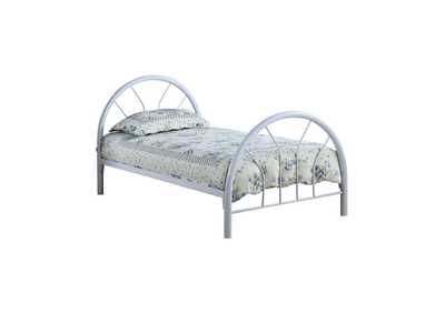 Geyser Transitional White Twin Bed