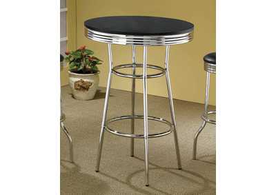 Image for Black Contemporary Black Bar-Height Table