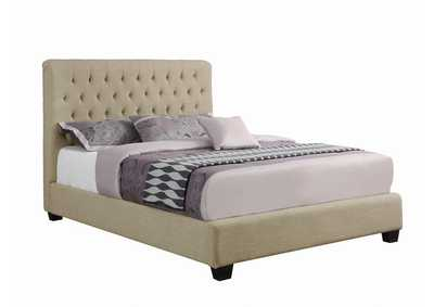 Image for Gurkha Chloe Transitional Oatmeal Upholstered Queen Bed