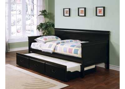 Eerie Black Louis Philippe Traditional Black Twin Daybed