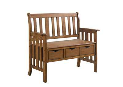 Image for Warm Brown Traditional Warm Brown Dining Bench