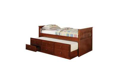 Redwood Transitional Cherry Twin Daybed