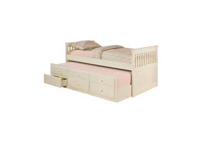 Image for Bone Transitional White Twin Daybed