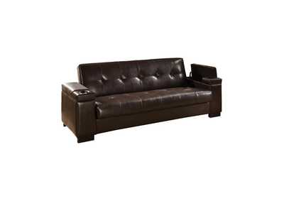 Oil Transitional Dark Brown Sofa Bed