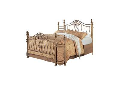 Antique Brass Sydney Traditional Antique Brushed Queen Bed