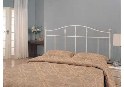Image for Traditional Cottage White Metal Queen Headboard