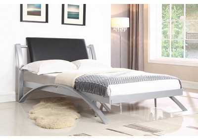 Cultured Pearl LeClair Contemporary Black and Silver Youth Full Bed,Coaster Furniture