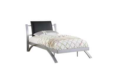Image for Mercury LeClair Contemporary Black and Silver Youth Twin Bed