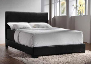 Licorice Conner Casual Black Upholstered Full Bed,Coaster Furniture