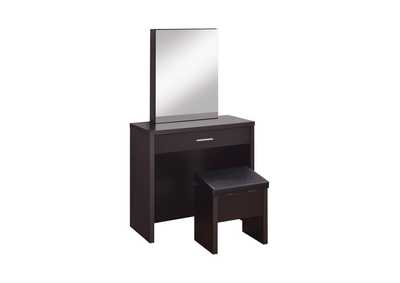 Cappuccino Cappuccino Vanity and Storage Dining Bench