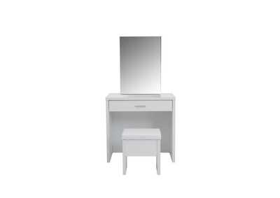 2-Piece Vanity Set With Lift-Top Stool White,Coaster Furniture