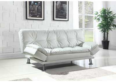 White Sofa Bed & Ottoman,Coaster Furniture