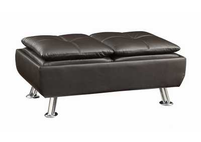 Image for Mine Shaft Dilleston Contemporary Brown Ottoman
