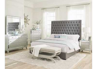 Napa Camille Grey Upholstered Queen Bed