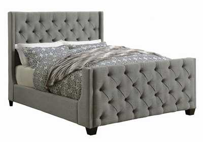 Image for Friar Gray Palma Light Grey Upholstered Full Bed