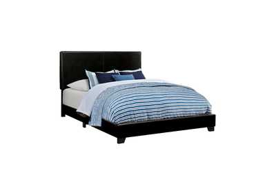 Image for Black Dorian Black Faux Leather Upholstered Queen Bed