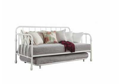Mist Gray Traditional White Metal Daybed