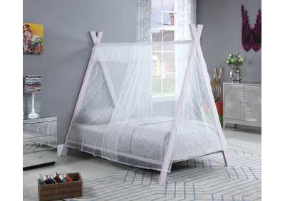 White Lilac Georgina Pink Twin Tent Bed,Coaster Furniture