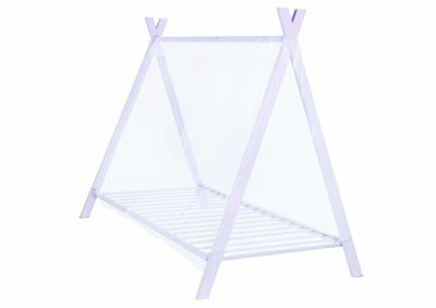 White Lilac Georgina Pink Twin Tent Bed