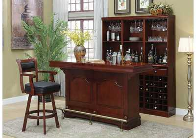 Bar Unit w/Bar Stool & Wine Wall