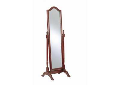 Image for Red Brown Floor Mirror