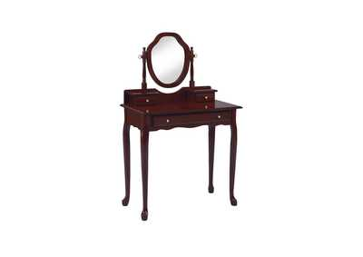 Cocoa Bean Traditional Brown-Red Vanity Set,Coaster Furniture