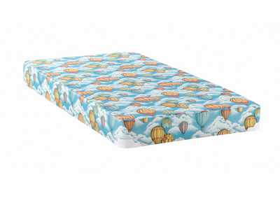 Botticelli Balloon Blue Patterned Twin Mattress