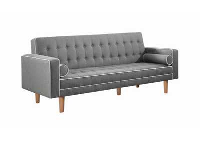 Image for Lassen Grey Tufted Upholstered Sofa Bed