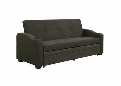 Black Sofa Bed W/ Sleeper,Coaster Furniture