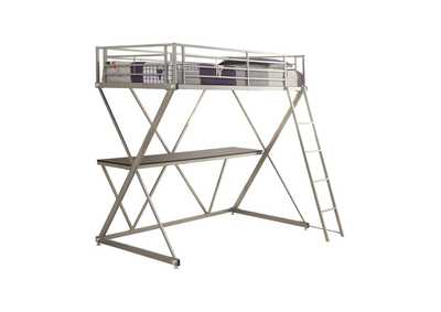 Image for Black Twin Workstation Loft Bed