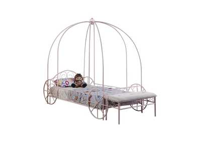 Swiss Coffee Massi Pink Twin Canopy Bed