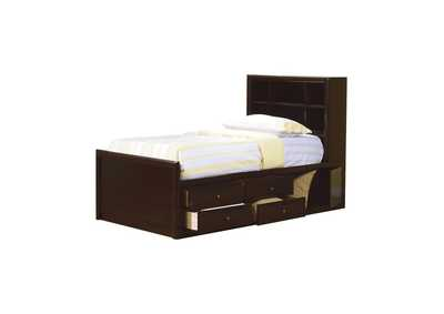 Image for Cappuccino Phoenix Full Bookcase Bed