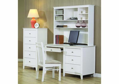Image for Selena White Desk & Hutch