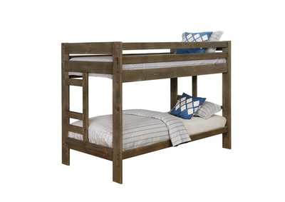 Judge Gray Wrangle Hill Gun Smoke Twin/Twin Bunk Bed