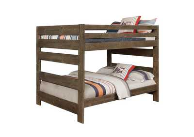 Tobacco Brown Wrangle Hill Gun Smoke Full/Full Bunk Bed