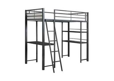 Mine Shaft Twin Workstation Loft Bed